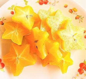 スターフルーツ 沖縄産 美ら星 輪切りにして食べる