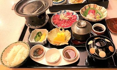 日本料理レストラン「富士」の料理 牛鉄板焼御膳