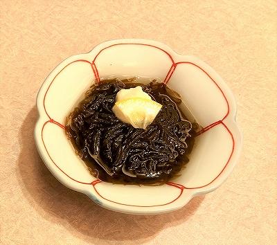 日本料理レストラン「富士」もずくの料理