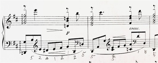 ラフマニノフ プレリュード Op.23-4の楽譜