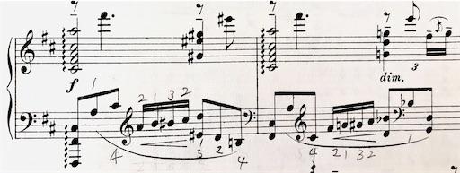 ラフマニノフ プレリュード Op.23-4 音が跳躍している部分の指づかい