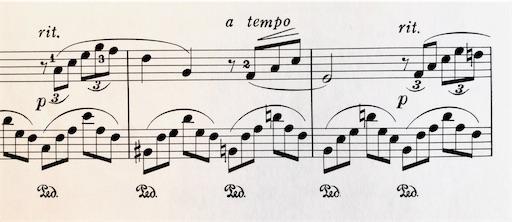 ドビュッシー アラベスク1番 rit.とa tempoの部分