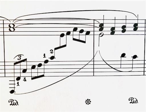 ドビュッシー アラベスク1番 左手の三連符