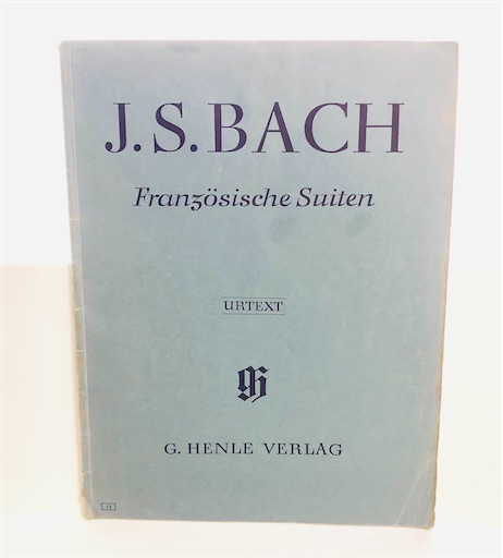 バッハ フランス組曲の楽譜 ヘンレ版