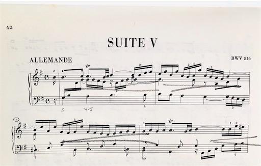 フランス組曲5番 ALLEMANDE