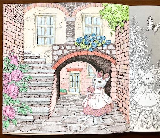 春夏秋冬 おしゃまな猫の物語 ぬり絵
