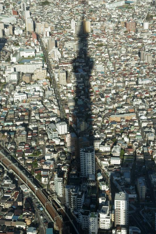 The Tokyo sky tree's silhouette