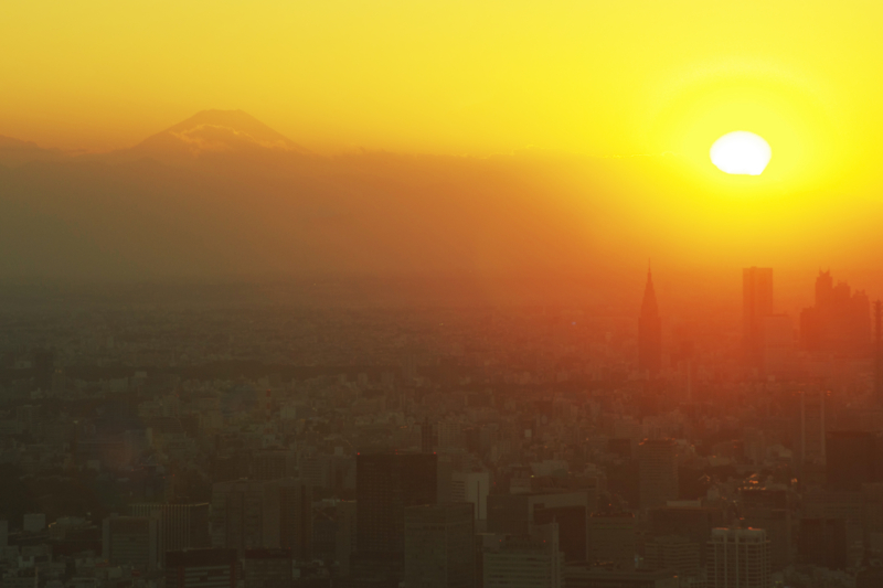 富士山と新宿