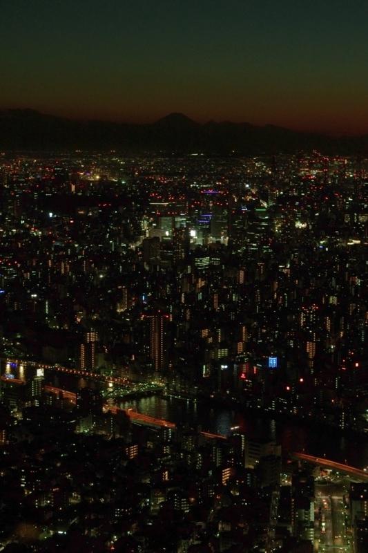 Mt.Fuji in the twilight