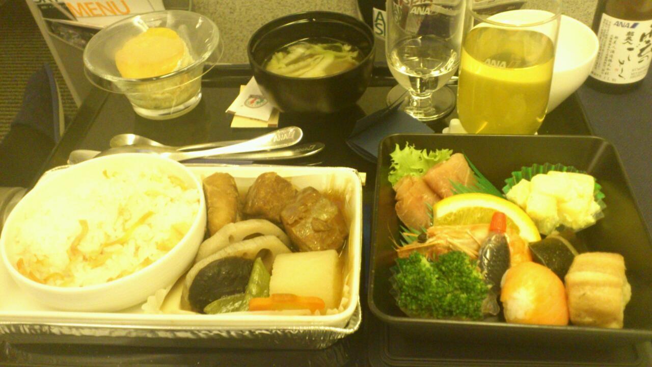今日の機内食はっとこ。