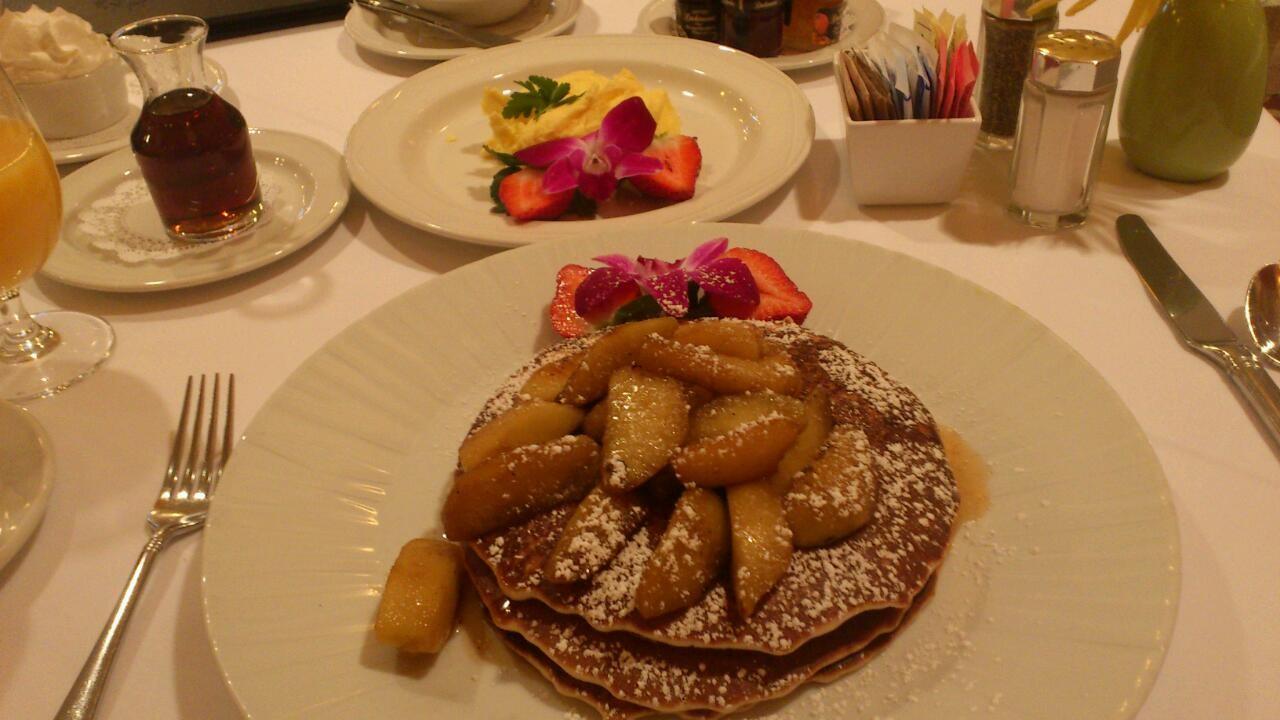 アメリカンな朝食…。胃ががが