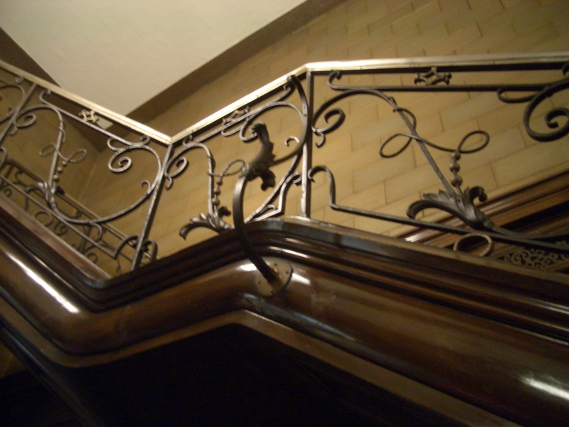 談話室階段手すり