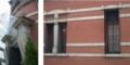 [近代][建築][大阪]オペラ・ドメーヌ高麗橋ファサードと窓の略式ペディメント