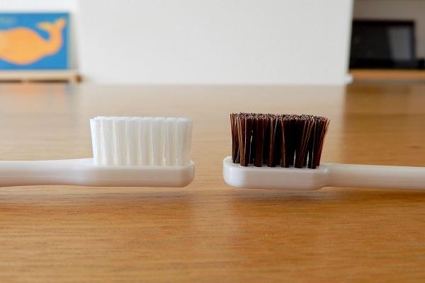 馬毛歯ブラシハイブリットとタフト24のヘッド比較
