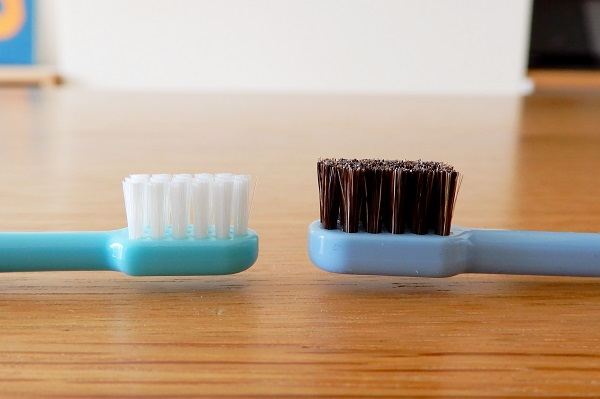 馬毛歯ブラシ子供用とタフト17のヘッド比較
