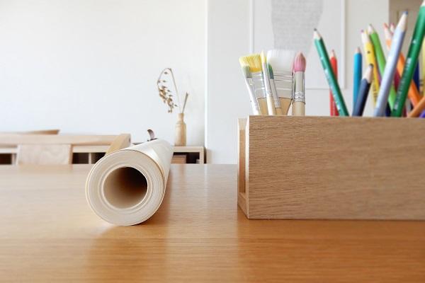 IKEAモーラのお絵描きロール紙と筆