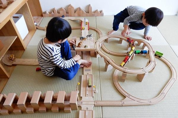 木製レールで作るループ橋?ジャンクション?