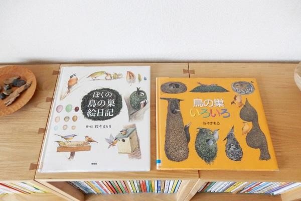 「ぼくの鳥の巣絵日記」「鳥の巣いろいろ」作・絵:鈴木まもる