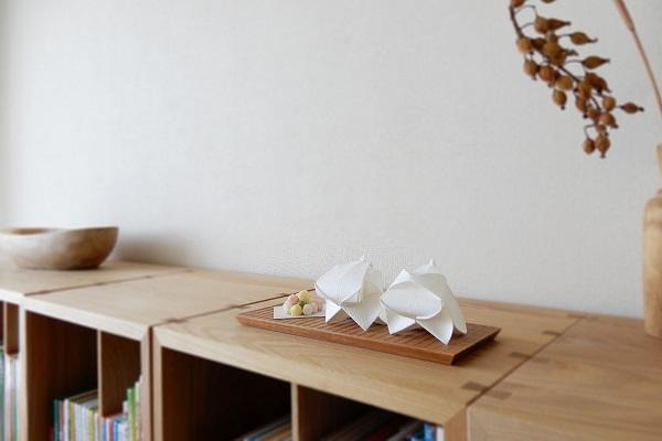 檀紙で折る小笠原雛