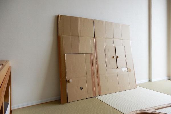 折り畳める段ボールハウス