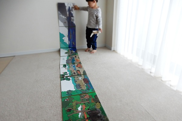 3m程の屏風絵本