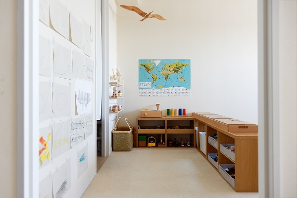 子供の作品を飾るスペース