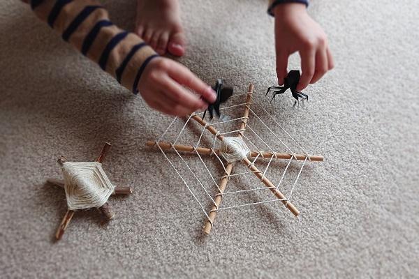 クロスウィービングで蜘蛛の巣つくり