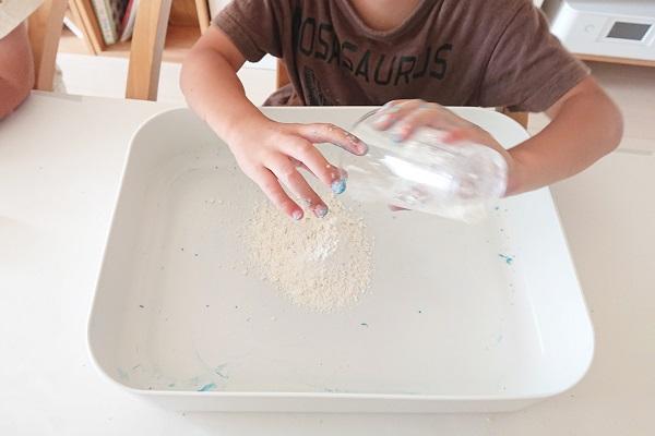小麦粉粘土作り
