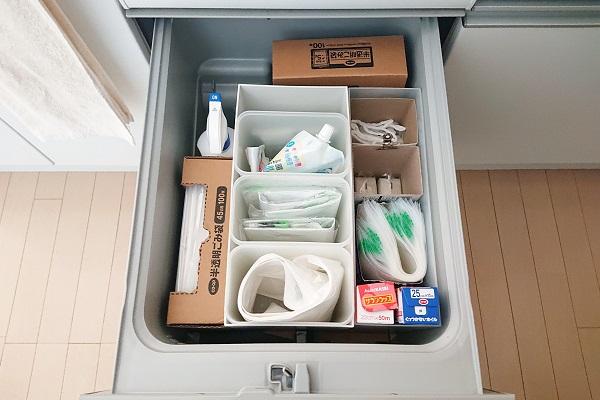使っていない食洗器は収納スペースに