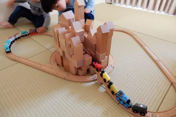 4歳の積み木遊び