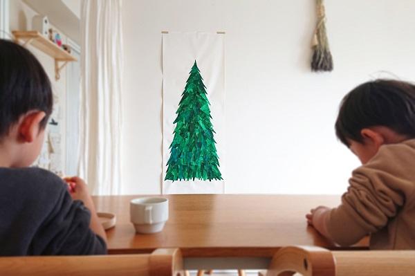 タペストリー風クリスマスツリー工作
