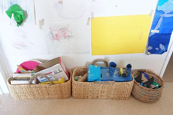 工作や折り紙作品の収納