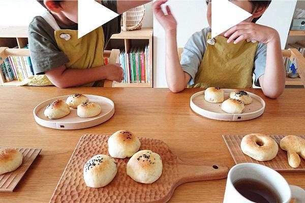 子どもとあんパン作り