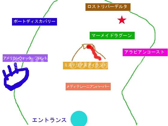 ディズニーシーのイラスト地図