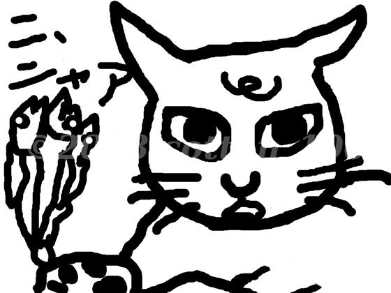 煮干し猫のイラスト