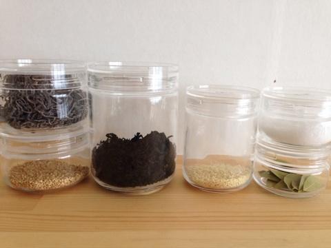 チャーミークリアー チャーミークリア 引き出し 整理 調味料 粉もの 収納 ガラス瓶 ガラスびん 小麦粉 スパイス