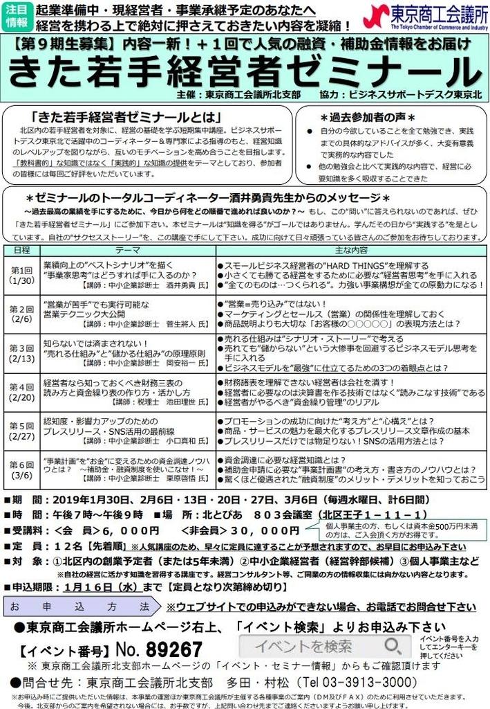 東京商工会議所 きた若手経営者ゼミナール セミナー企画 酒井勇貴 講師