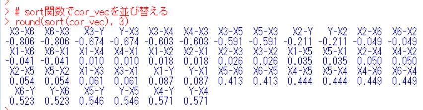 round関数とsort関数