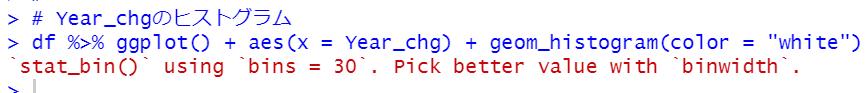 geom_histogram関数でヒストグラム