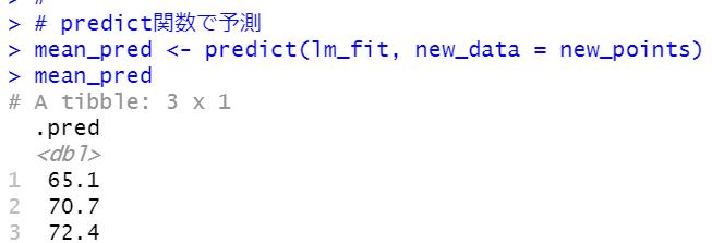 predict関数
