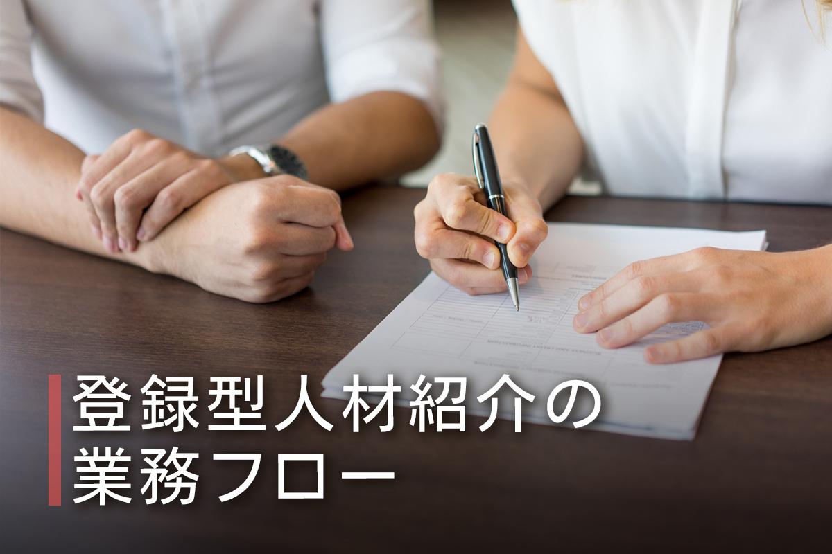 登録型人材紹介の業務フロー