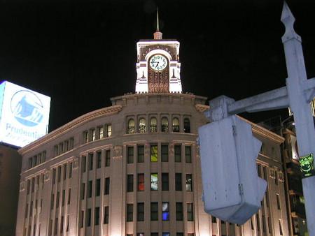 2004.02.27銀座4丁目交差点夜景