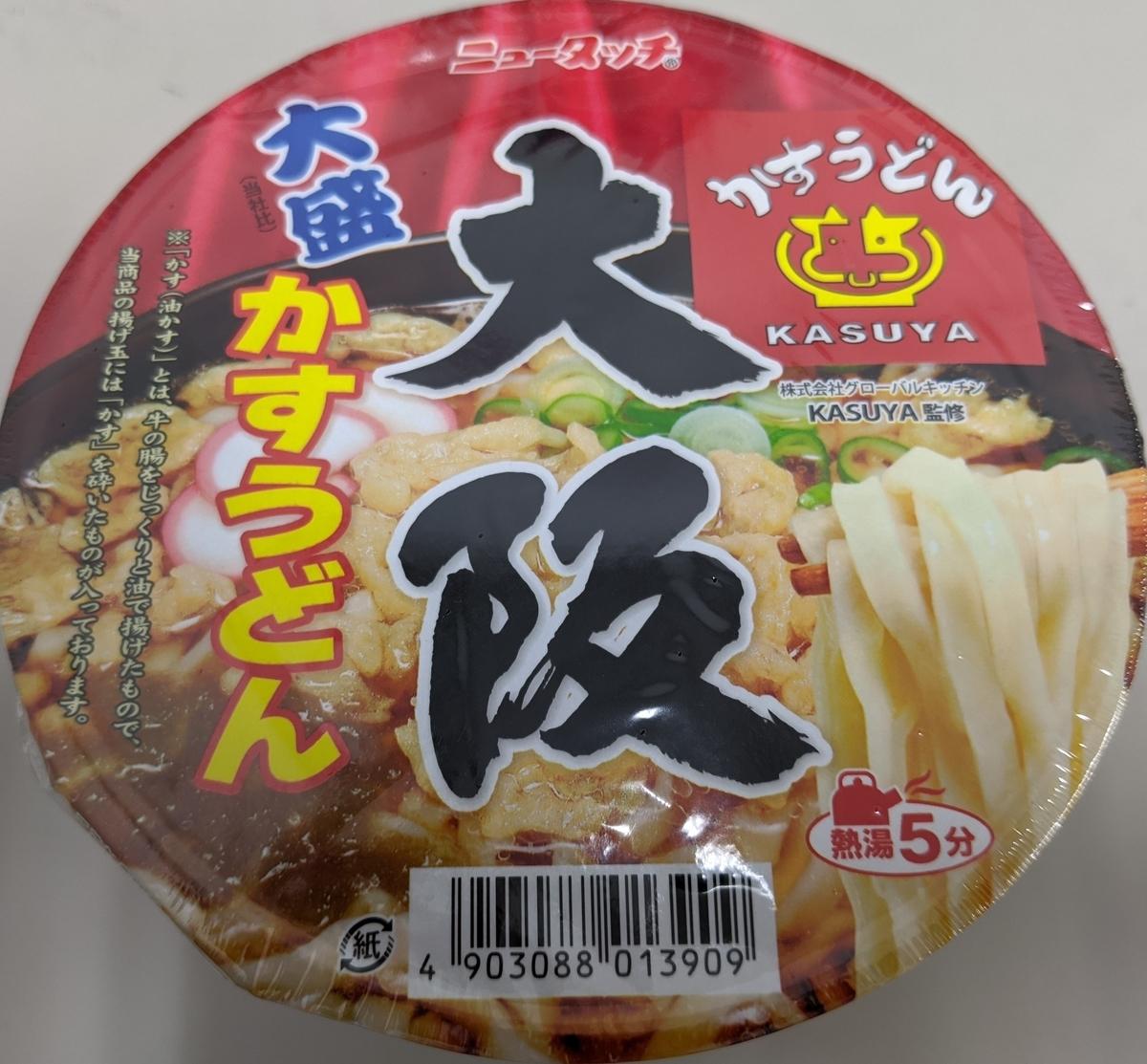 大盛 大阪かすうどんのパッケージ写真