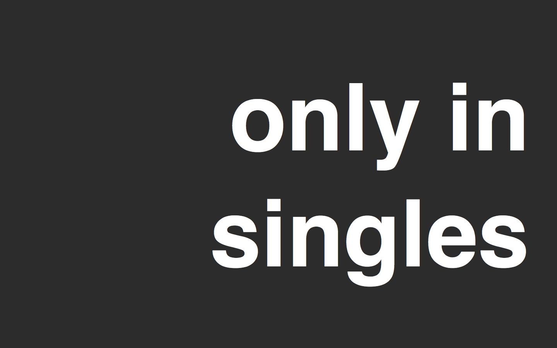 ロゴ「only in singles」