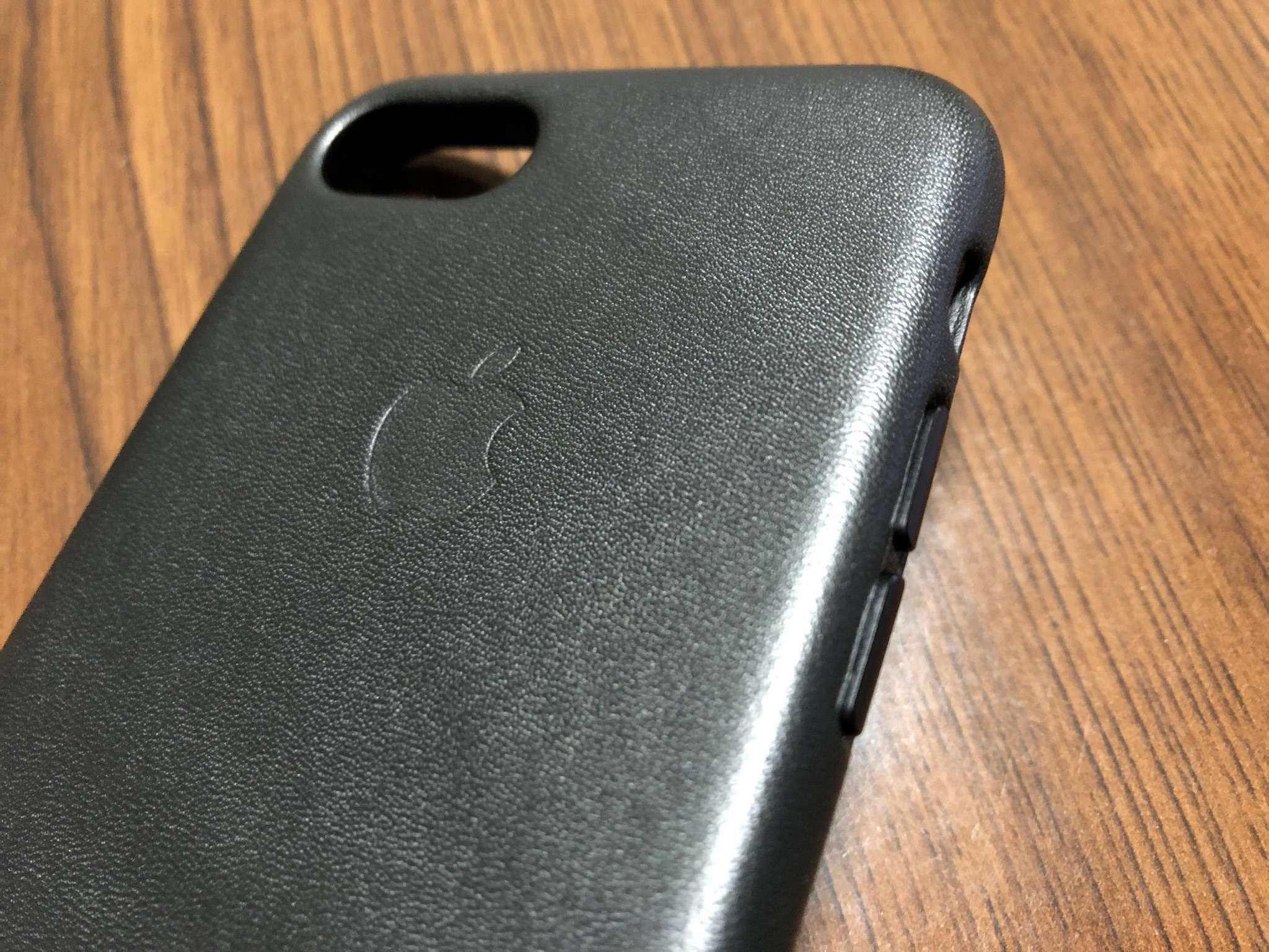 Apple iPhone 8 / 7レザーケース Appleマーク