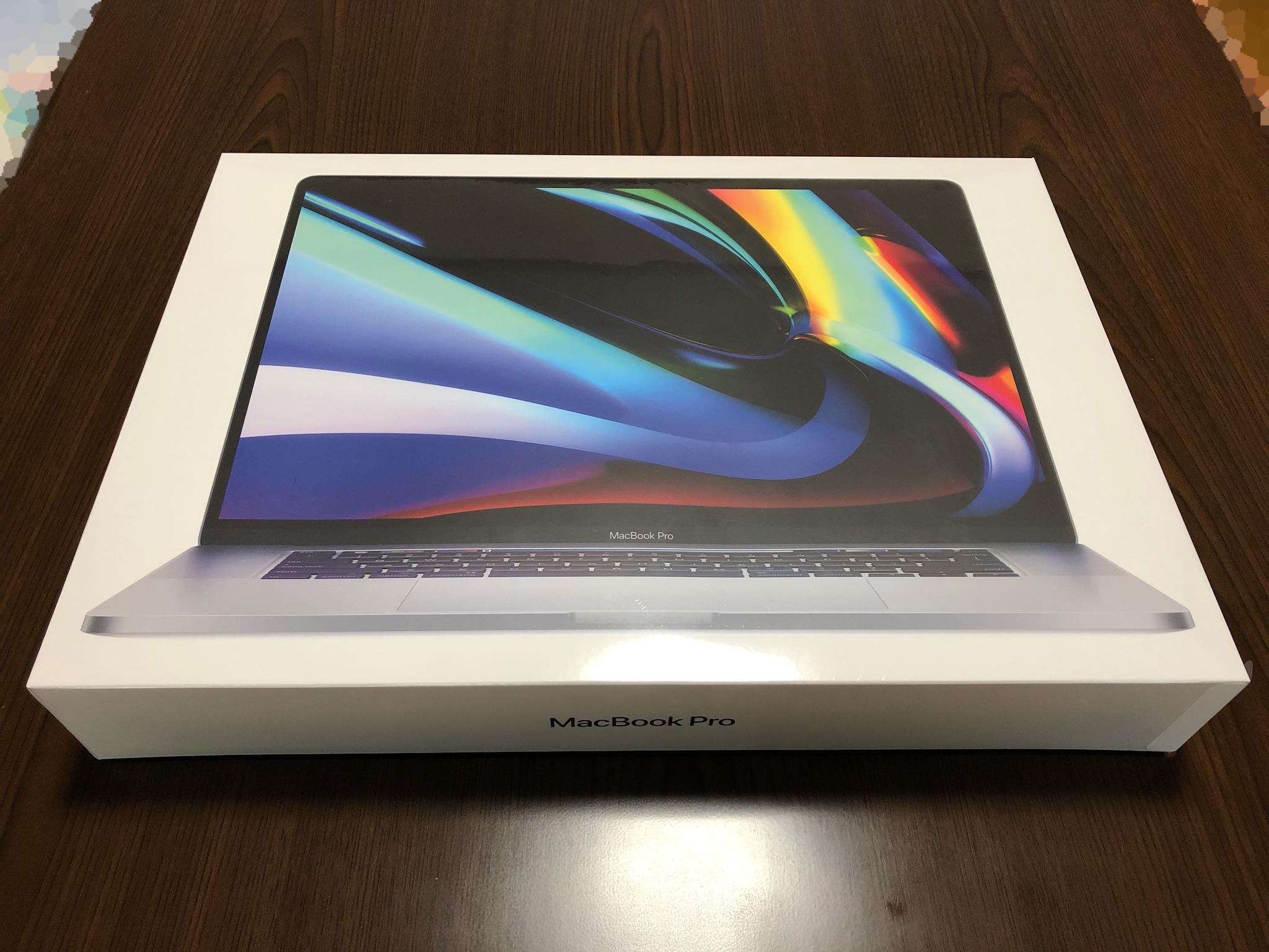 16インチMacBook Pro パッケージ