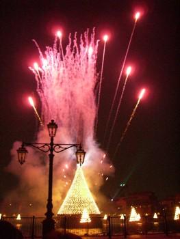 夢の国のクリスマスツリー