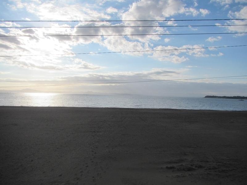 朝の三浦海岸