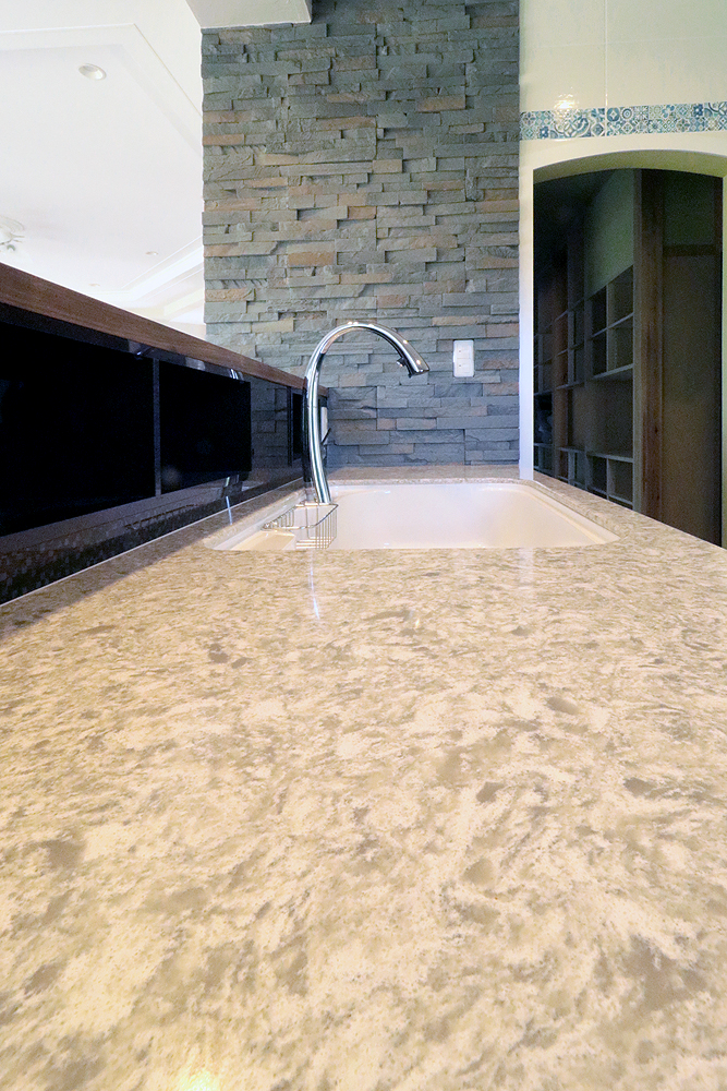 コセンティーノ サイルストーン アークティック キッチン天板