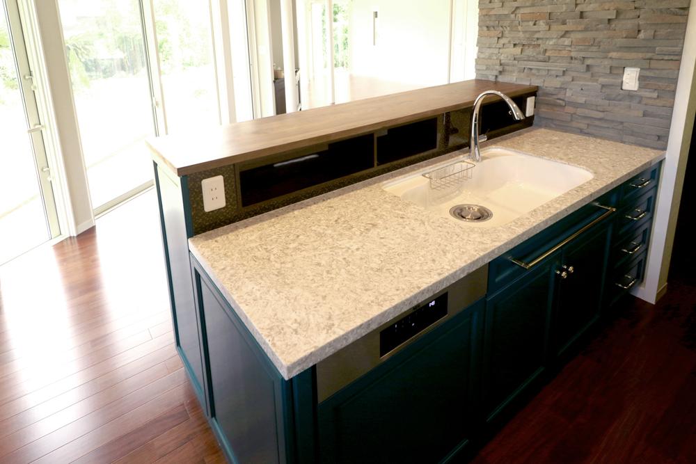 コセンティーノ サイルストーン アークティック ARCTIC キッチン天板 施工例